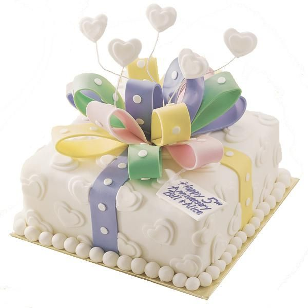 "Every Year's A Gift Cake. Customize to fit the occasion - birthday, anniversary, Mother's Day or ""just because."""