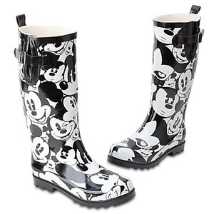 Mickey Mouse Rain Boots. Wife wants these, Disney Store has been sold out for months. Wish I knew where to find them.