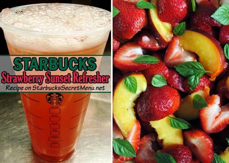 Strawberry Sunset Refresher | Starbucks Secret Menu