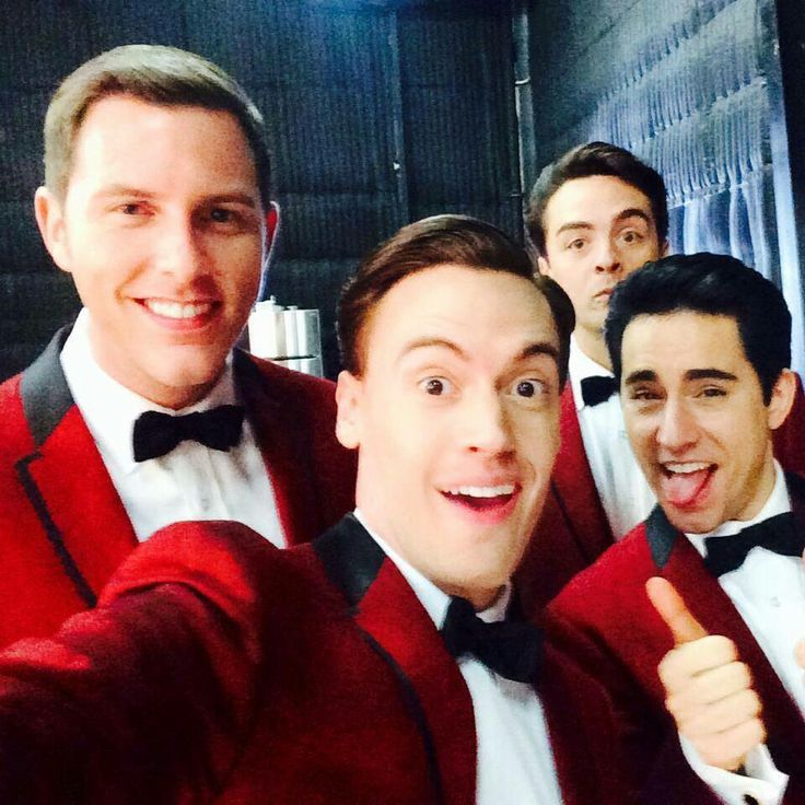 Michael Lomenda, Erich Bergen, Vincent Piazza, and John Lloyd Young <3
