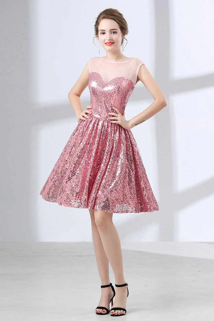 Only $99, Homecoming Dresses Sparkly Cute Pink Short Homecoming Dress For Senior Girls #CH6660 at #GemGrace. View more special Special Occasion Dresses,Prom Dresses,Homecoming Dresses now? GemGrace is a solution for those who want to buy delicate gowns with affordable prices, a solution for those who have unique ideas about their gowns. Shop now!