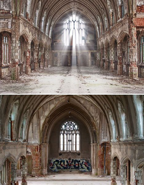 ABANDONED INSTITUTIONAL ARCHITECTURE - St. Agnes Church Detroit - Abandoned in 2006 due to financial troubles, Detroit's St. Agnes church remained in fairly good condition for three years, though it had been stripped to its bare bones. Even once all of the organ pipes, chandeliers and stained glass windows were gone, the church displayed much of its old grandeur.
