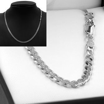 50cm Sterling Silver BCD Curb Chain Necklace - SN-BCD120