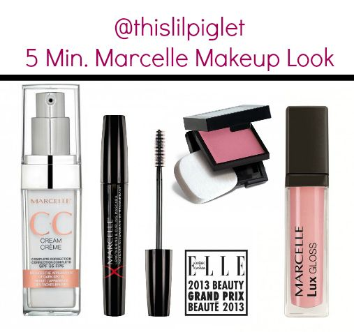 5 Minute Makeup Look for busy moms from @Marcelle Thompson #MarcelleMoms #beauty Look: Marcelle CC cream, Cream Blush in Coral, Xtension Plus + ProLash Growth Complex Mascara in Black; Lux Gloss Cream in Belissima