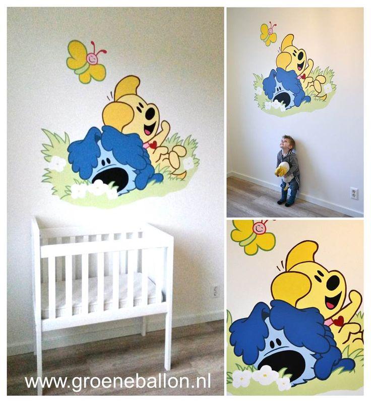 Woezel en Pip | muurschildering | kinderkamer | babykamer | www.groeneballon.nl | Den Haag