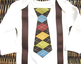 Baby Boy Clothes First Easter Boy Suspender Bow por SewLovedBaby
