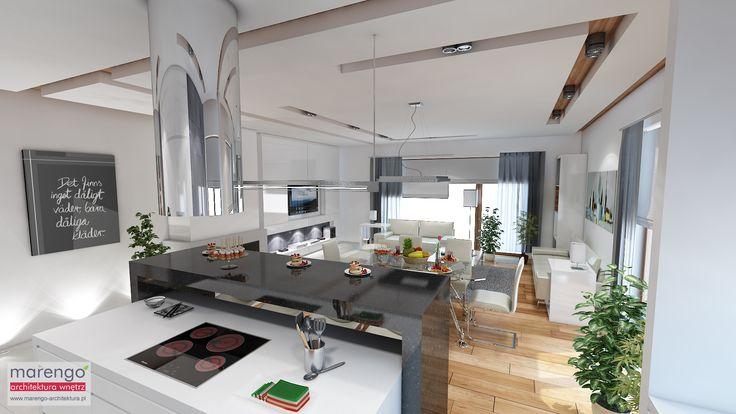 minimalizm w domu w Niepołomicach, kuchnia