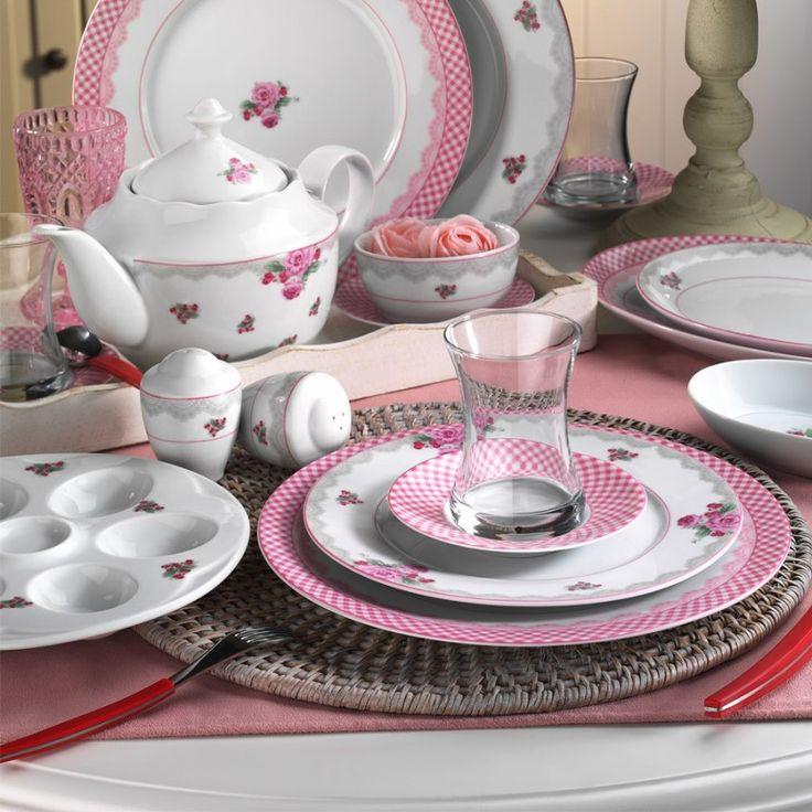 Kütahya Porselen Leonberg 43 Parça 4208537 Kahvaltı Takımı ::