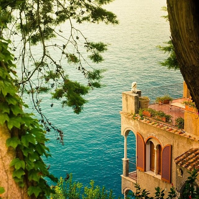 Seaside Balcony, Amalfi Coast, Italy photo via besttravelphotos