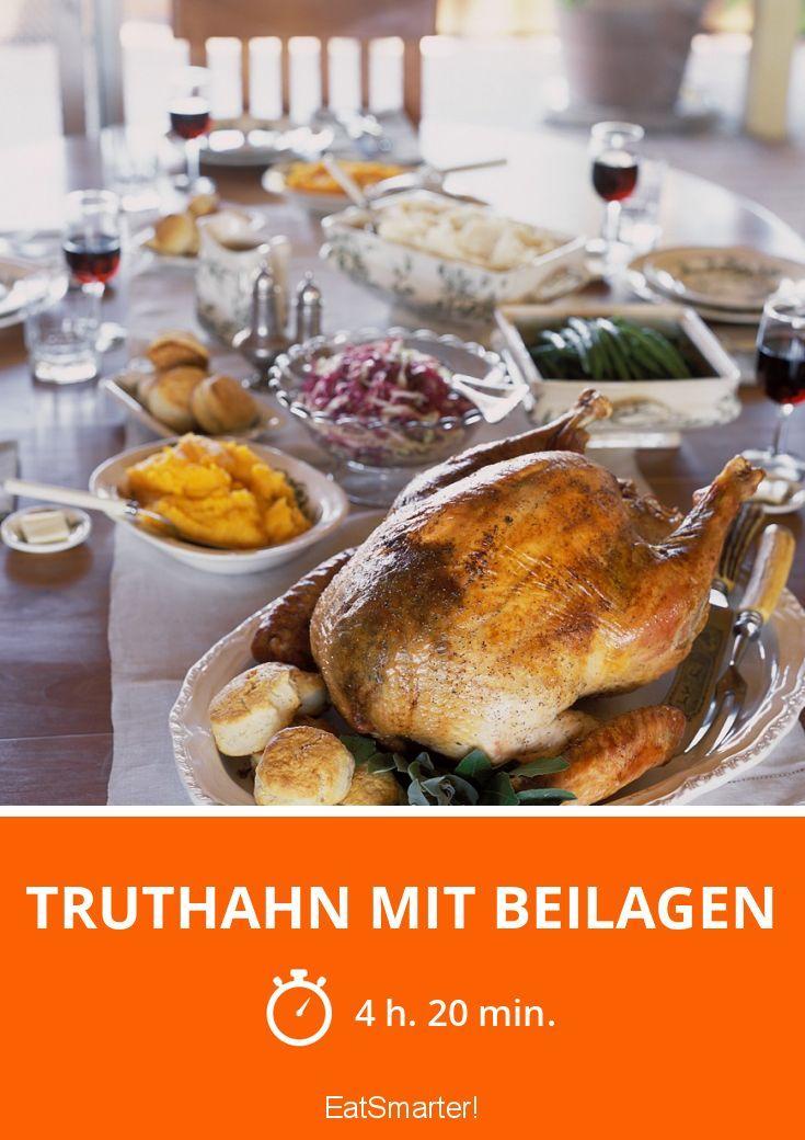 Truthahn mit Beilagen - smarter - Zeit: 4 Std. 20 Min. | eatsmarter.de