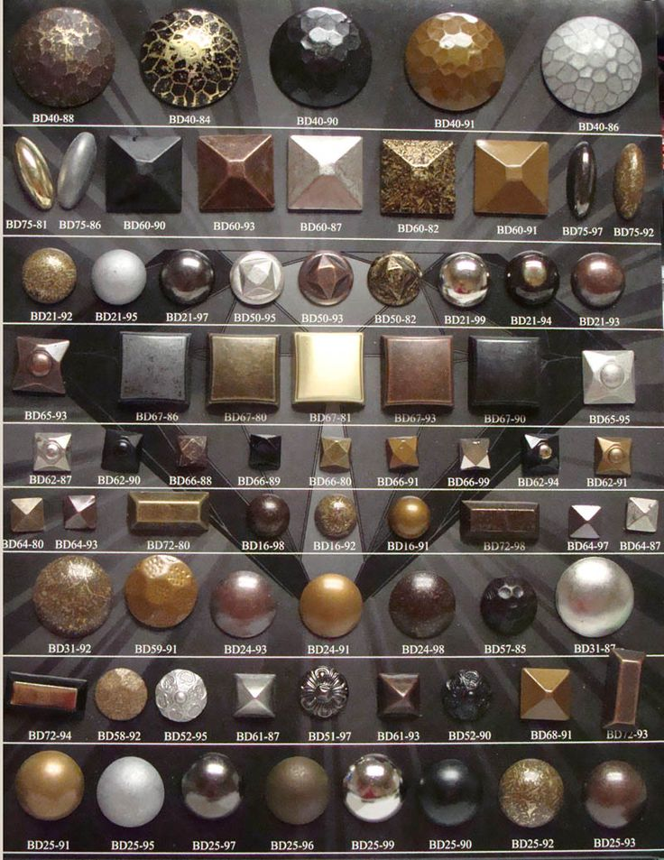 nailheads for window treatments, wall treatments, upholstery, etc.