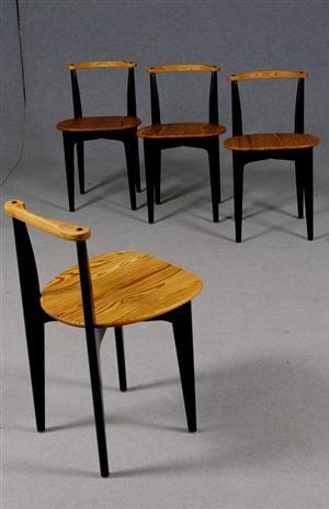 Yngve Ekström; Pine 'Thema' Chairs, 1952.