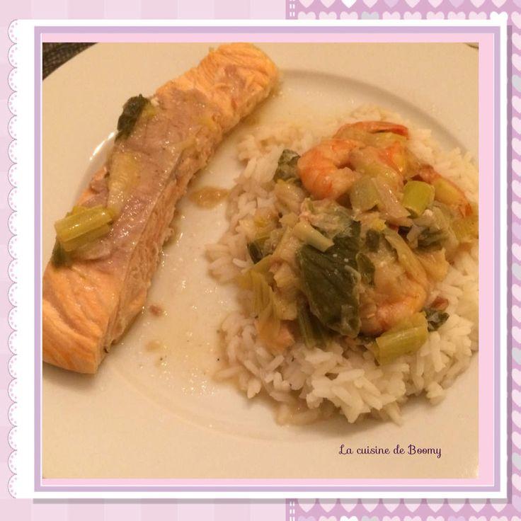 J avais 4 pav s de saumon et quelques crevettes cuisiner - Cuisiner blanc de dinde ...