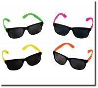 $45.99-$29.95 Baby 48 pair, assorted colors, great party favors for birthday party, luau etc.all have dark lenses, all have bright color frames