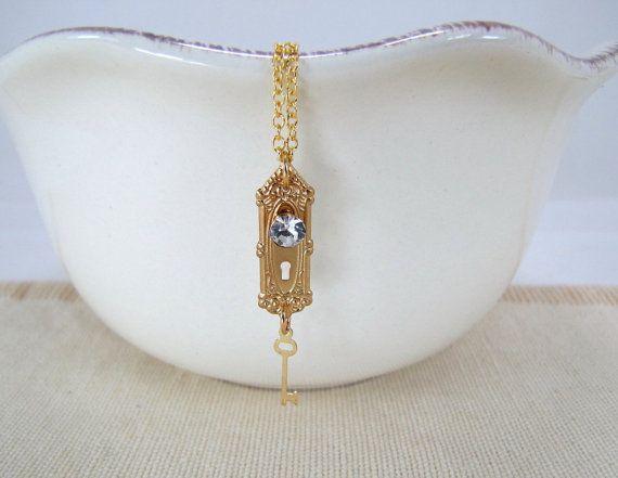 Poignée de porte et clés collier Alice au pays des merveilles bijoux: