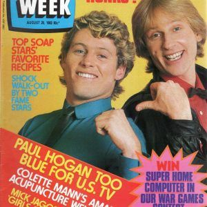 TV WEEK - TV Week - 20th August 1983 - Peter Phelps And Grant Dodwell On Cover (Magazines) | Rare Records