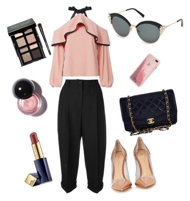 Black and Pink by lenshop-gr on Polyvore featuring Alexis, Dolce&Gabbana, Gianvito Rossi, Chanel, Bobbi Brown Cosmetics and sunglasses Dsquared2 http://lenshop.gr/manufacturers/9460-dsquared