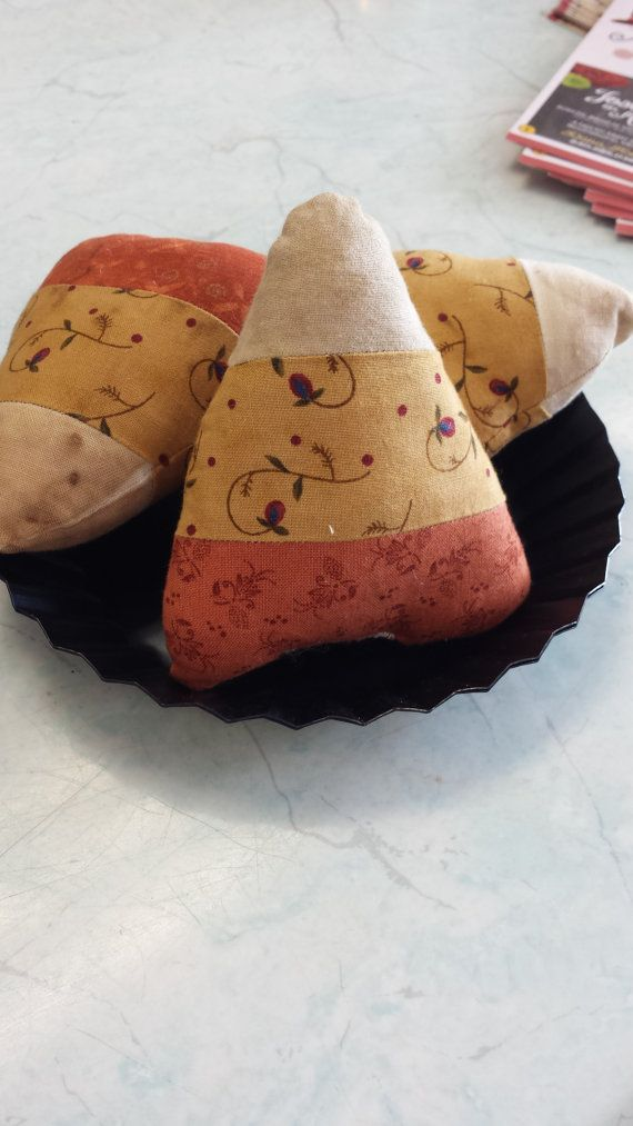 Primitive Fabric Candy Corn Bowl Fillers Bag by SpareThymeSisters, $5.00