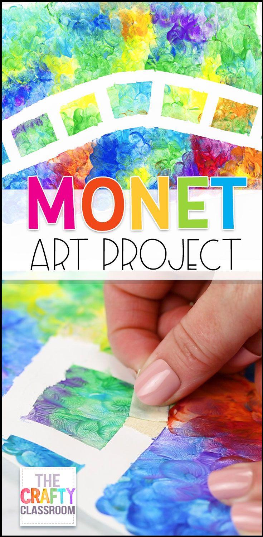 Monet Craft For Kids Classroom Art Projects Homeschool Art Preschool Art Projects