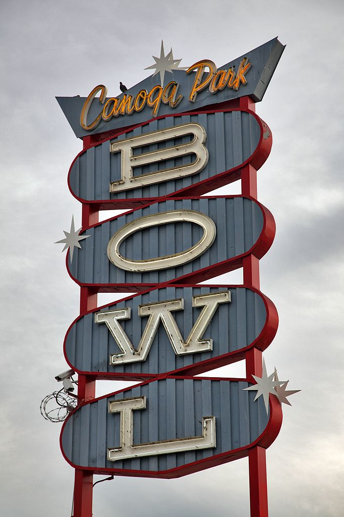 Canoqa Park Fifties Retro Bowl Sign:   Visit & Like our Facebook page! https://www.facebook.com/pages/Rustic-Farmhouse-Decor/636679889706127
