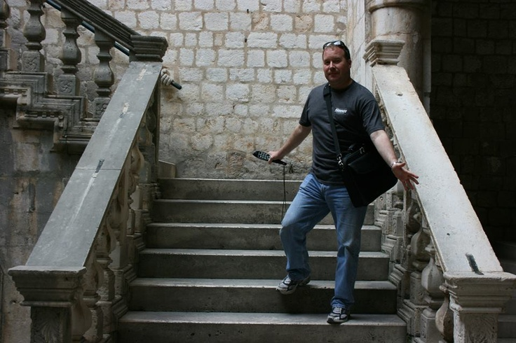 The author in Dubrovnik on stairs used to film numerous scenes inside the Rector's palace. http://www.amazon.com/gp/product/1483921352