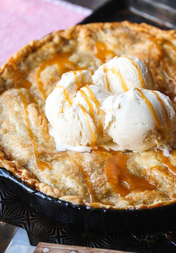 Easy Skillet Caramel Apple Pie