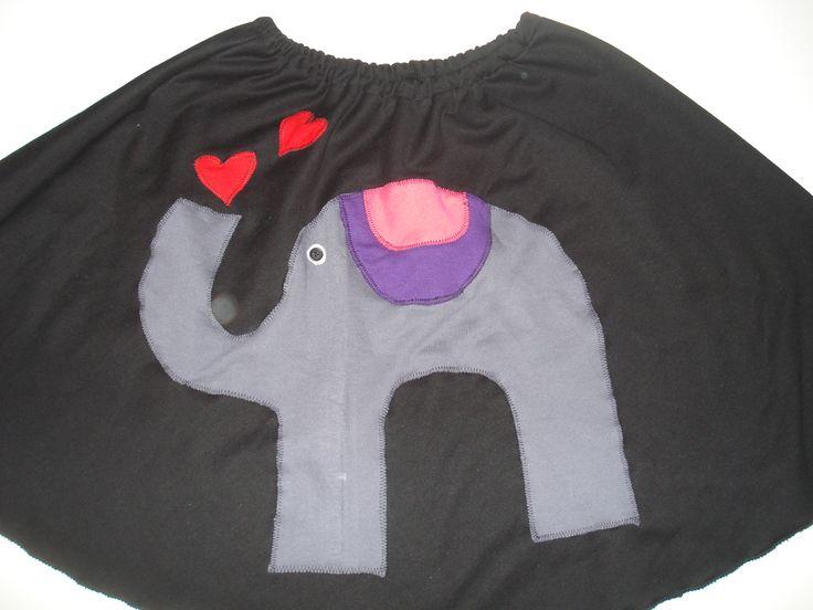 χειροποίητη φούστα ελέφαντας