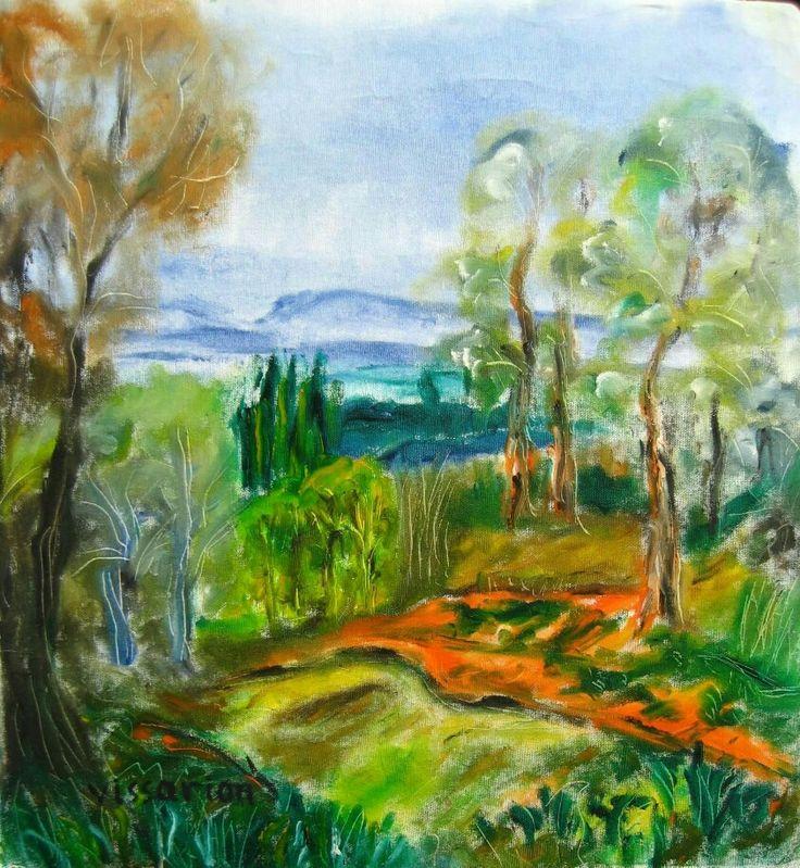 Landscape (oil on canvas) - vissarion g