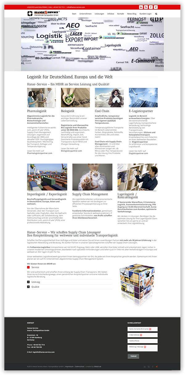 Internetseite für die Hanse-Service GmbH