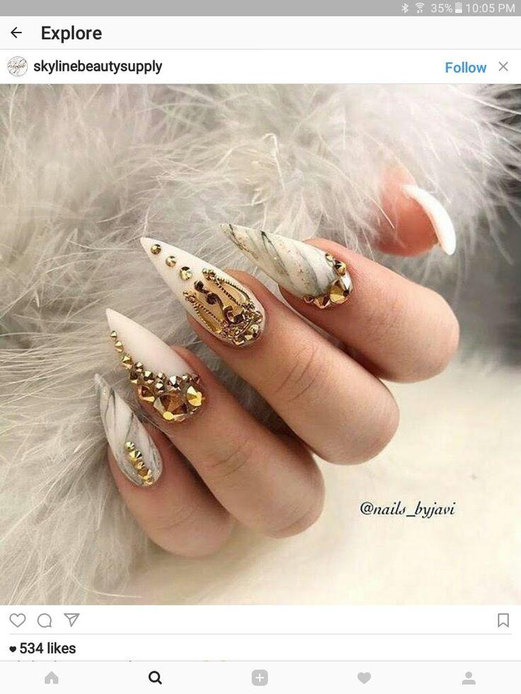 nail art catty nails