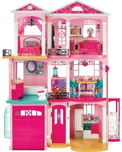 Girl Barbie Doll Dream House Fully Furnished Furniture Play Sound Large 4 Tall #all-proceeds-go-to-help-the-disabled