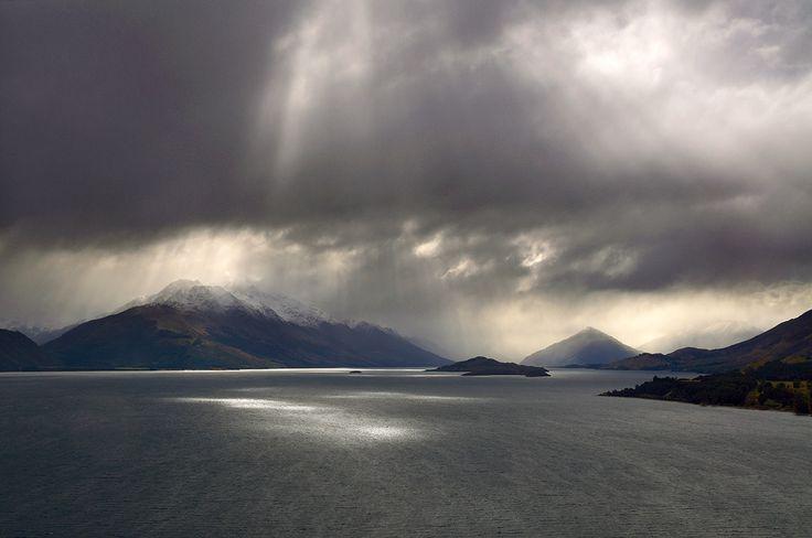Storm over Lake Wakatipu, New Zealand.