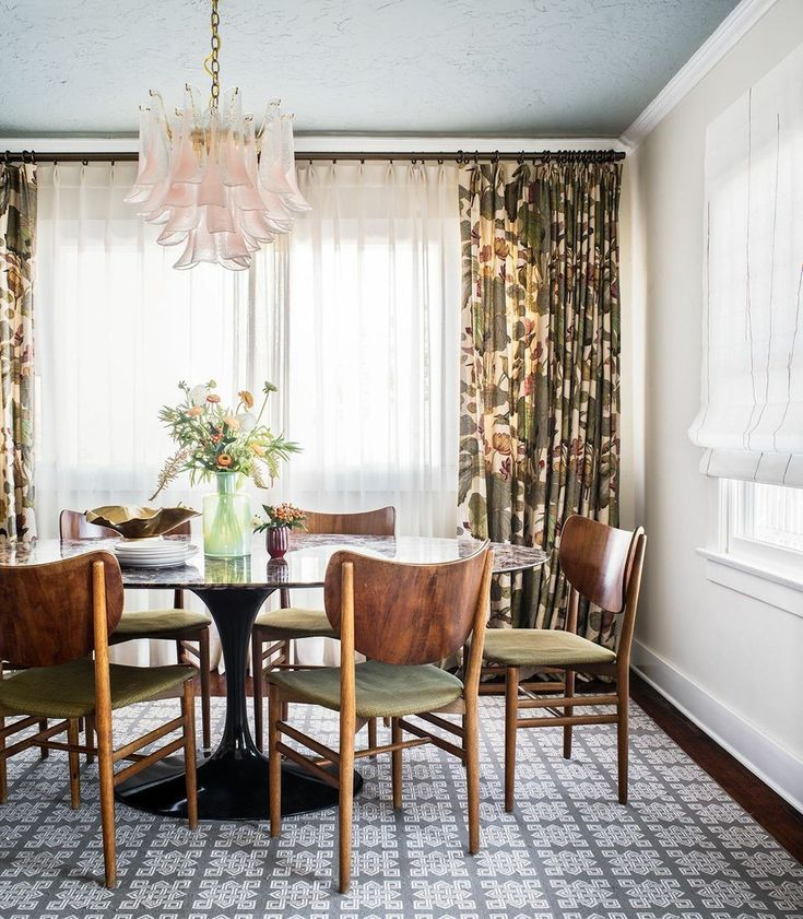 Design Ideas From Tyler Dawsons Los Angeles Bungalow Blue CeilingsPainted CeilingsRetro Dining RoomsKitchen