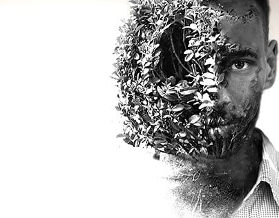 """Check out new work on my @Behance portfolio: """"double exposure portrait #2"""" http://on.be.net/1P0pyoV"""