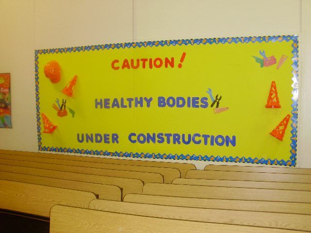 construction bulletin board borders | Bulletin Board Ideas for Physical Education