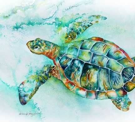 sea turtle paintings - Google Search