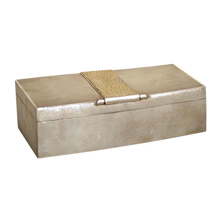 Shagreen & Silver Box, France, 20th Century