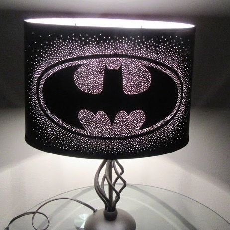 Batman Light Pin Hole Emitting Lamp Shade by GeekYourInterest