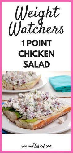 Weight Watchers Hühnchensalat – Tiefpunkte und lecker!   – Diet recipes