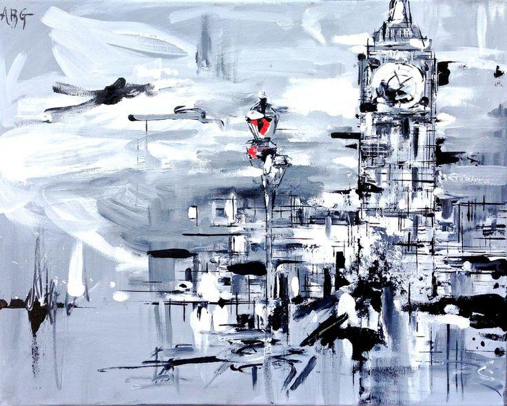"Saatchi Art Artist: Anna Gammans; Acrylic 2013 Painting ""London in focus II"""