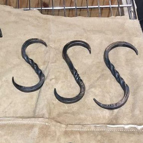 Hand Forged Large S Hooks That Have A Multitude Of Uses Pair Them With A Cooking Tripod To Hang Your Dutch Oven Over Forging Hand Forged Heavy Item