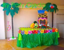 100 ideas to try about mesas de dulces mesas dessert tables and minnie mouse party - Fiesta hawaiana ideas decoracion ...