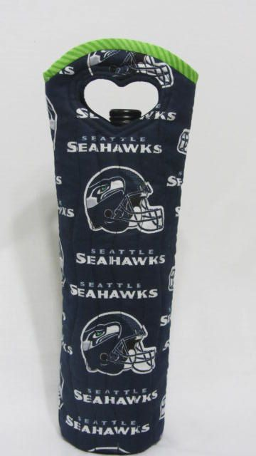 Seahawks Wine Bag Seattle Football SuperBowl by Wine2The9s on Etsy, $22.50  CONGRATS Seattle!