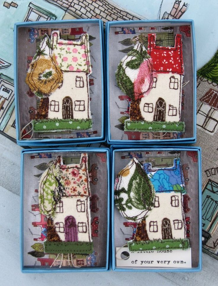 'A little house of your very own'. My little house brooches are made to order from fabric remnants and can incorporate your own colour preference. Just let me k