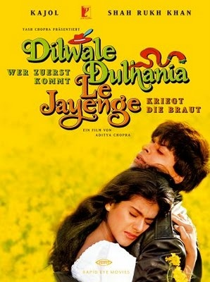 "classic romantic bollywood movie  ""Come...fall in love"" -- Dilwale Dulhania Le Jayenge"