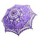 Amazon.com | Topwedding Handmade Cotton Lace Flower Girl Parasol Children Umbrella, Pale Purple | Umbrellas