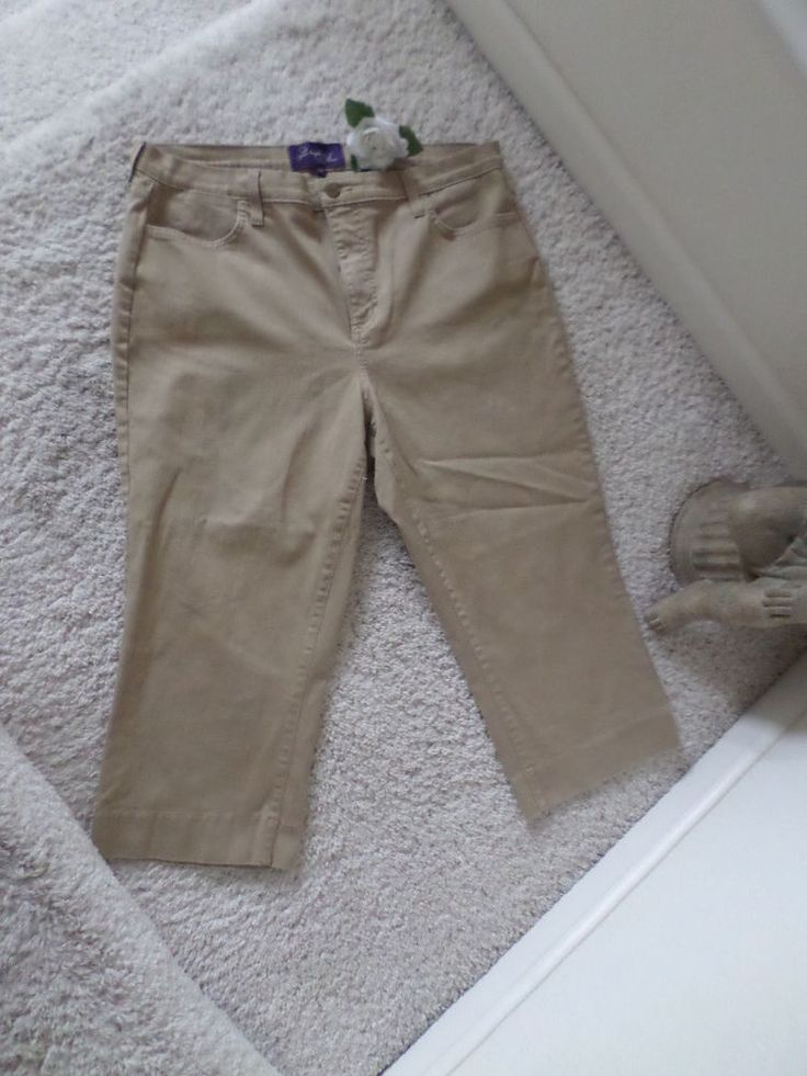 NOT YOUR DAUGHTER'S JEANS CAMEL PANTS 16W~NYDJ LIFTTUCK CAPRI PANTS 16W~ 95% NEW #NotYourDaughtersJeans #Relaxed