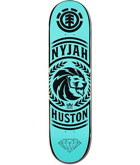 "Grab the latest Nyjah Huston pro model with the Element Nyjah Clarity 8.0"" Skateboard Deck. Made from a durable 7-ply maple construction with an overall mellow concave, you'll feel the difference with your flip tricks as you embrace the clean crispy pop!"