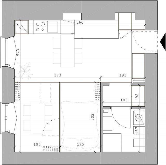 In 34 Mq Un Bilocale Trasformabile Progetto Casa Case Piccoli