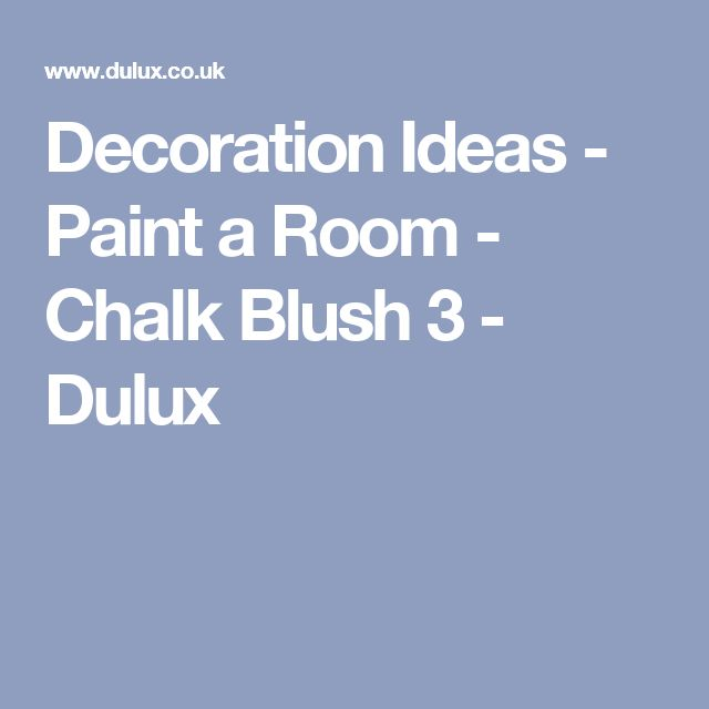 Decoration Ideas - Paint a Room - Chalk Blush 3 - Dulux